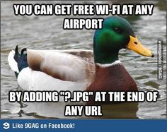 Tips for free wifi at the airport.... in case I'm flying to a stingy country where wifi is not free