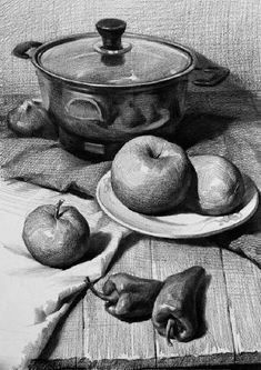 VK is the largest European social network with more than 100 million active users. Pencil Sketch Drawing, Basic Drawing, Pencil Art Drawings, Realistic Drawings, Art Sketches, Still Life Sketch, Still Life Drawing, Still Life Art, Beginner Sketches