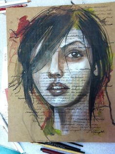 I could not love this style of painting more. Pen, acrylic, cardboard