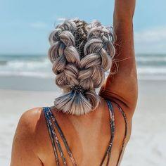 Beach Hair Updo, Beach Day Hair, Beach Hairstyles For Long Hair, Beach Braids, Cute Hairstyles For Teens, Teen Hairstyles, Braids For The Beach, Beautiful Hairstyles, Summer Hairstyles