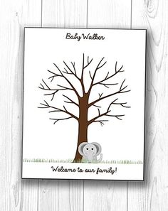 Baby Shower Tree, Baby Shower Signs, Unique Baby Shower, Baby Shower Fingerprint, Fingerprint Tree, Thumbprint Tree, Guest Book Tree, Baby Bundles, Cool Gifts For Women