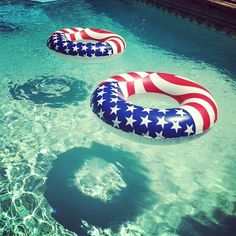 Red White And Blue Pool Side #USA, #americanflag #4thofjuly