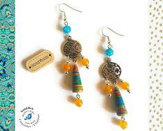 Boucles d'Oreilles Bohèmes Colorées Ethniques Perles en