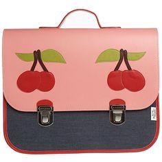 #JeunePremier Maxi #boekentas - #schooltas #kersen #schoolbag #satchel #cartable #Schulranzen #cherry #pink #littlethingz2 #backtoschool #school