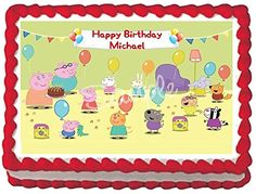 Peppa Pig 2 Edible Frosting Sheet Cake Topper  14 Sheet * Read more at the image link.