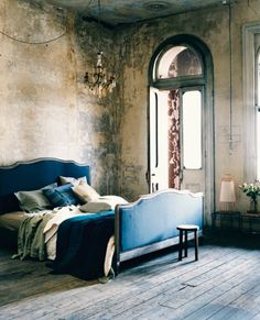 Slaapkamer bleu, franse stijl
