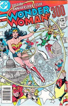 Wonder Woman 300 DC Comics Giant JLA Green Lantern Bronze Age Amazon Diana Prince 1983 F/VF by LifeofComics #comicbook