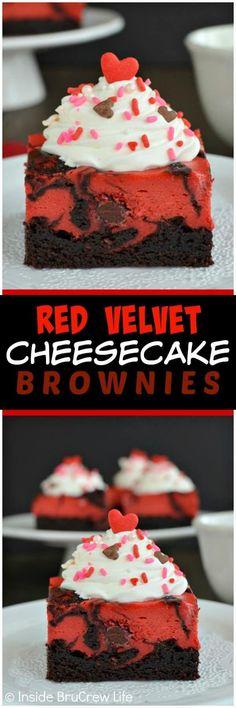 Red Velvet Cheesecake Brownies | Posted By: DebbieNet.com