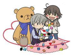 Junjou Romantica - Chibi Misaki and Usagi : Valentine's Day Part 1 / 3 ( Junjou Romantica ) Anime Chibi, Anime Manga, Miyagi, Anime Boys, Kawaii, Junjou Romantica Misaki, Usagi San, Ciel Nocturne, Romance