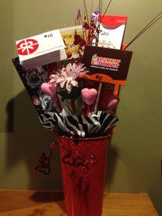 Gift card raffle basket