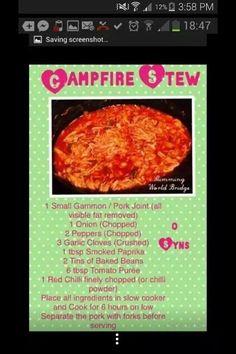 Slimming world campfire stew recipe