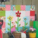 My Other Garden: Fast Charm Square Wall Quilt Pattern...featured in America Makes Fast Quilts Spring 2012.