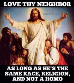Same race? So they changed Christ race to white. Same religion? So they terrorized the slaves (all brown people) into christianity. The strange part is that they feminized Christ, that part is strange. Atheist Quotes, Atheist Humor, Libra, Republican Jesus, Jon Snow, What Would Jesus Do, Secular Humanism, Religion, Love Thy Neighbor