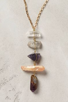 Quartz Ladder Necklace - anthropologie.com