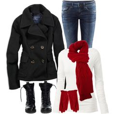 """""""No. 122 - Baby, it's cold outside"""" by hbhamburg on Polyvore"""