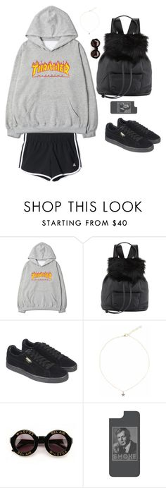 """""""sarah luna style"""" by guls ❤ liked on Polyvore featuring Elizabeth and James, adidas, Puma, Liz Law, Wildfox and Casetify"""