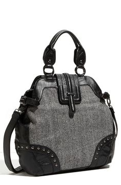 Big Buddha Tweed Satchel
