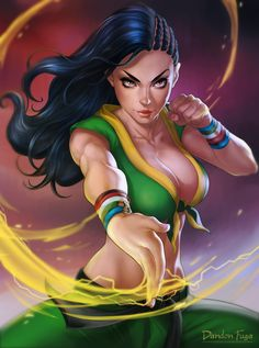 Street Fighter, Laura, by dandonfuga