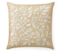 Floral Raffia Pillow Cover - Aerin