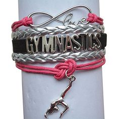 Gymnastics Bracelet- Girls Gymnastics Bracelet- Gymnastics Jewelry - Perfect Gift For Gymnast Infinity Collection