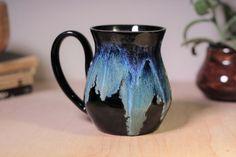 Midnight Tide flared mug by Amanda Joy of Sublime Pottery Clay Mugs, Teapots, Stoneware, Glaze, Amanda, Cups, Mugs, Ceramics, Ceramica