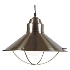 """Features:  -Can be used on a cathedral ceiling or regular ceiling.  -Length: 120"""".  Product Type: -Mini pendant.  Style (Old): -Traditional.  Shade Material: -Metal.  Material: -Metal.  Bulb Type: -Ha"""