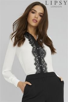 Lipsy Mono Lace Shirt - female wedding photographer clothes outfit ideas, what to wear female photographer Photographer Outfit, Female Photographers, Business Outfits, Printed Shirts, Work Wear, Lace Skirt, What To Wear, Ruffle Blouse, Lipsy