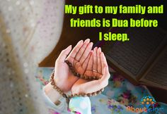 The best dua'a is the one for someone else.