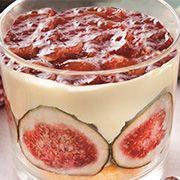 Tiramisù fichi e miele Mousse Fruit, Creme Mascarpone, Crunch, Biscotti, Cheesecakes, Panna Cotta, Food And Drink, Pudding, Ethnic Recipes