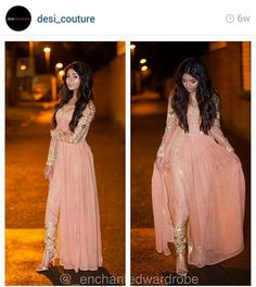 Pink and Golden Pakistani Fashion Pakistani Couture, Indian Couture, Pakistani Outfits, Indian Outfits, Emo Outfits, Mode Bollywood, Bollywood Fashion, Party Kleidung, Look Formal