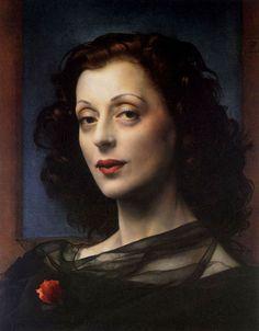 Pietro Annigoni (1910-1988)  Mrs. Woolfson  Oil on canvas