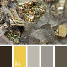 Palette that combines in itself shades of precious metals is an original solution for living room in the style of long gone eras. Paint Color Schemes, Colour Pallette, Brown Furniture, Antique Furniture, Color Balance, Bedroom Paint Colors, Yellow And Brown, Bright Yellow, Golden Color