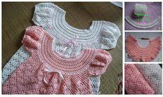 Precioso vestido en crochet para niñas