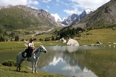 horse riding holiday in Kyrgyzstan Riding Holiday, Silk Road, Horse Riding, Trek, Camping, Horses, Adventure, Horse Trails, Mountains