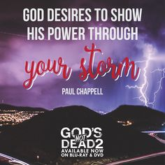 Have #faith when you're facing storms, and He will show His power in your life. #trustinGod