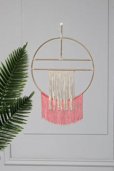 This item is unavailable Elsa, Fringe Arts, False Wall, Wall Decor, Wall Art, Pink Walls, Hanging Art, Decoration, Geometric Shapes
