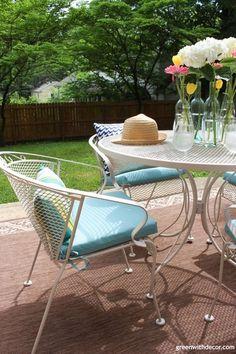white metal outdoor furniture. Fine Outdoor Blue And White Patio Ideas For White Metal Outdoor Furniture