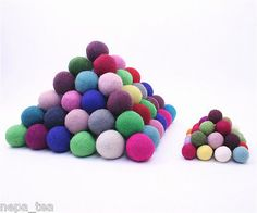 Holiday 160716: Felt Balls Nursery Pom Pom 2Cm 20Mm Galrand Craft Christmas Decoration Treat -> BUY IT NOW ONLY: $82.99 on eBay!