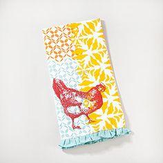World market dish towel would make a cute throw pillow.