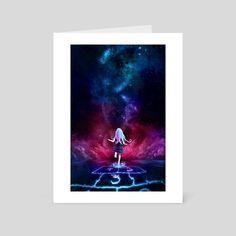 Over the Galaxy, an art card by Aurora Lion