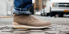 The Hirsh-the perfect blend of Desert Boot / Retro Runner.