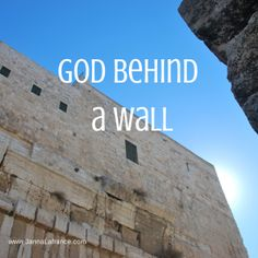 Do you ever feel like you're just too busy to really appreciate important holidays? Find out what I discovered in the midst of the chaos of Easter. http://www.jannalafrance.com/2014/04/god-behind-a-wall.html
