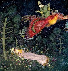 Edmund Dulac, Fairy Book, Fairy Tales of the Allied Nation, 1916. Hodder & Stoughton, London. Via Pierangelo Boog