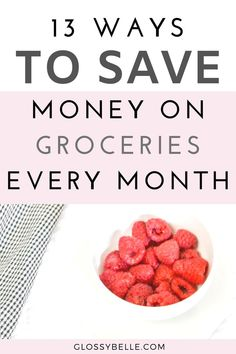 13 Easy Ways To Save Money On Groceries Each Month – Glossy Belle Save Money On Groceries, Ways To Save Money, Money Tips, Money Saving Tips, How To Make Money, Daily Routine For Women, Discount Grocery, Shopping Apps, Food Cost