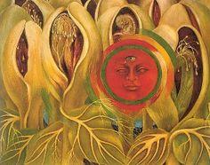 Sun and Life or  El Sol y la Vida by Frida Kahlo