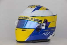 Helmet Marcus Ericsson, angular view. Sauber F1 Team. ► All about the car and drivers: www.sauberf1team.com - #F1 #SauberF1Team #ME9 #MarcusEricsson #FN12 #FelipeNasr #SauberC34 #FormulaOne #Formula1 #motorsport