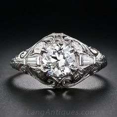 1.07 Carat Art Deco Diamond Ring - 10-1-4973 - Lang Antiques