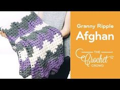 Crochet Granny Ripple with Caron Kindness The Granny Wave Ripple that is on the Caron Kindness Yarn Ball Band is
