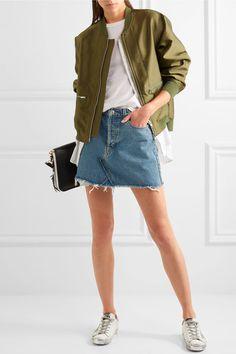 RE/DONE - Originals Distressed Denim Mini Skirt - Blue