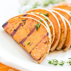 Garlic-balsamic grilled butternut